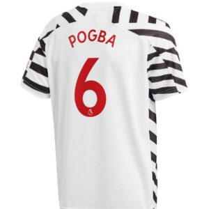 adidas Manchester United Third Shirt 2020 21 with Pogba 6 printing Jersey WhiteBlack 1 1