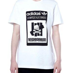 adidas Neighborhood Undefeated Logo Tee White 3