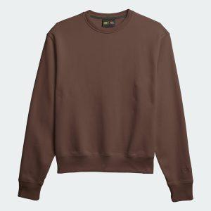 adidas Pharrell Williams Basics Crewneck Sweatshirt Earth Brown