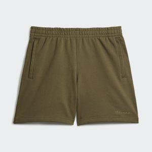 adidas Pharrell Williams Basics Sweat Shorts Olive Cargo
