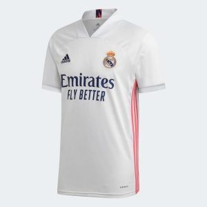 adidas Real Madrid 9 Benzema Home Authentic Shirt 2021 Jersey White