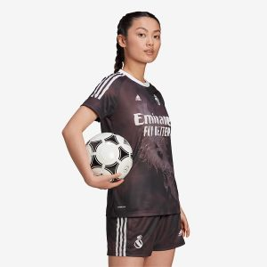 adidas Real Madrid Human Race Womens Jersey BlackWhite 1