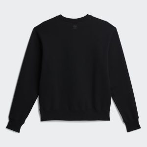 adidas x Pharrell Williams Basics Gender Neutral Crewneck Sweatshirt Black 1