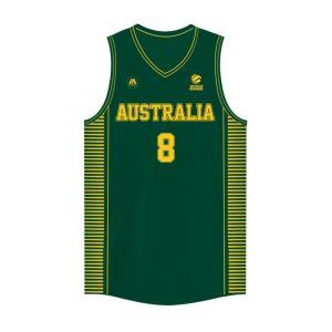 iAthletic Matthew Dellavedova Australian Boomers National Away Green Jersey