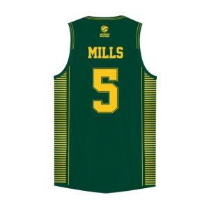 iAthletic Patty Mills Australian Boomers National Away Green Jersey 1