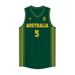 iAthletic Patty Mills Australian Boomers National Away Green Jersey