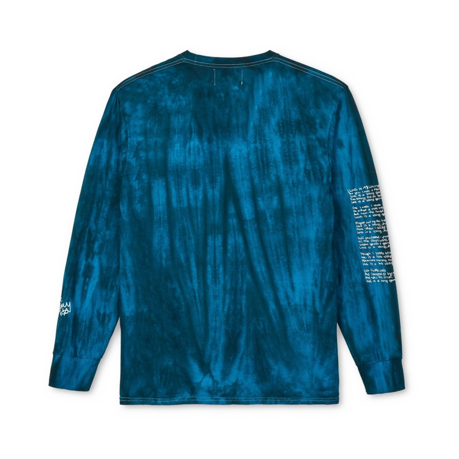 Awake Amy Long Sleeve Tee Blue 1