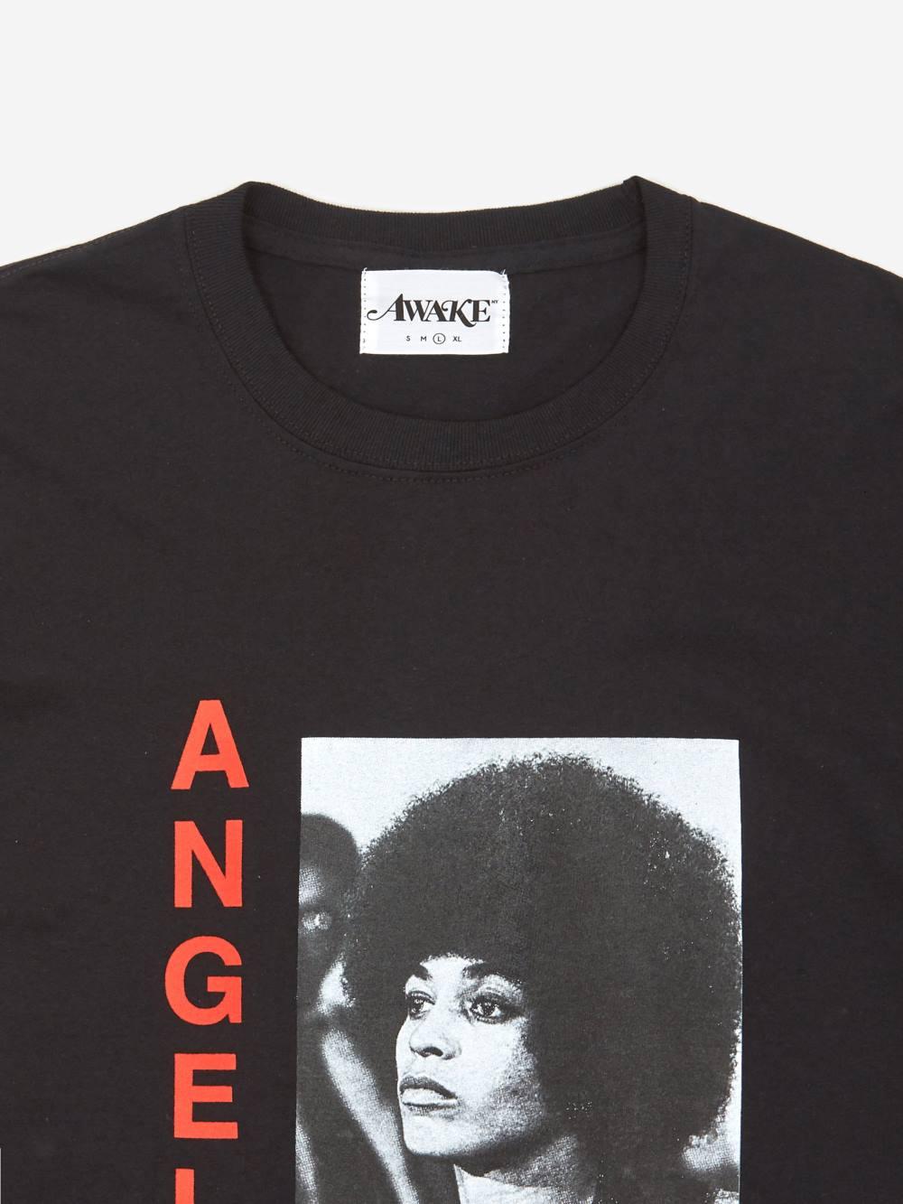 Awake Angela Davis T shirt Black 2