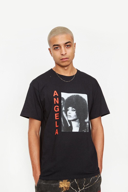 Awake Angela Davis T shirt Black 3