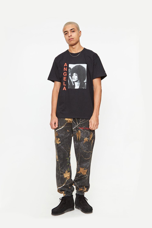 Awake Angela Davis T shirt Black 4