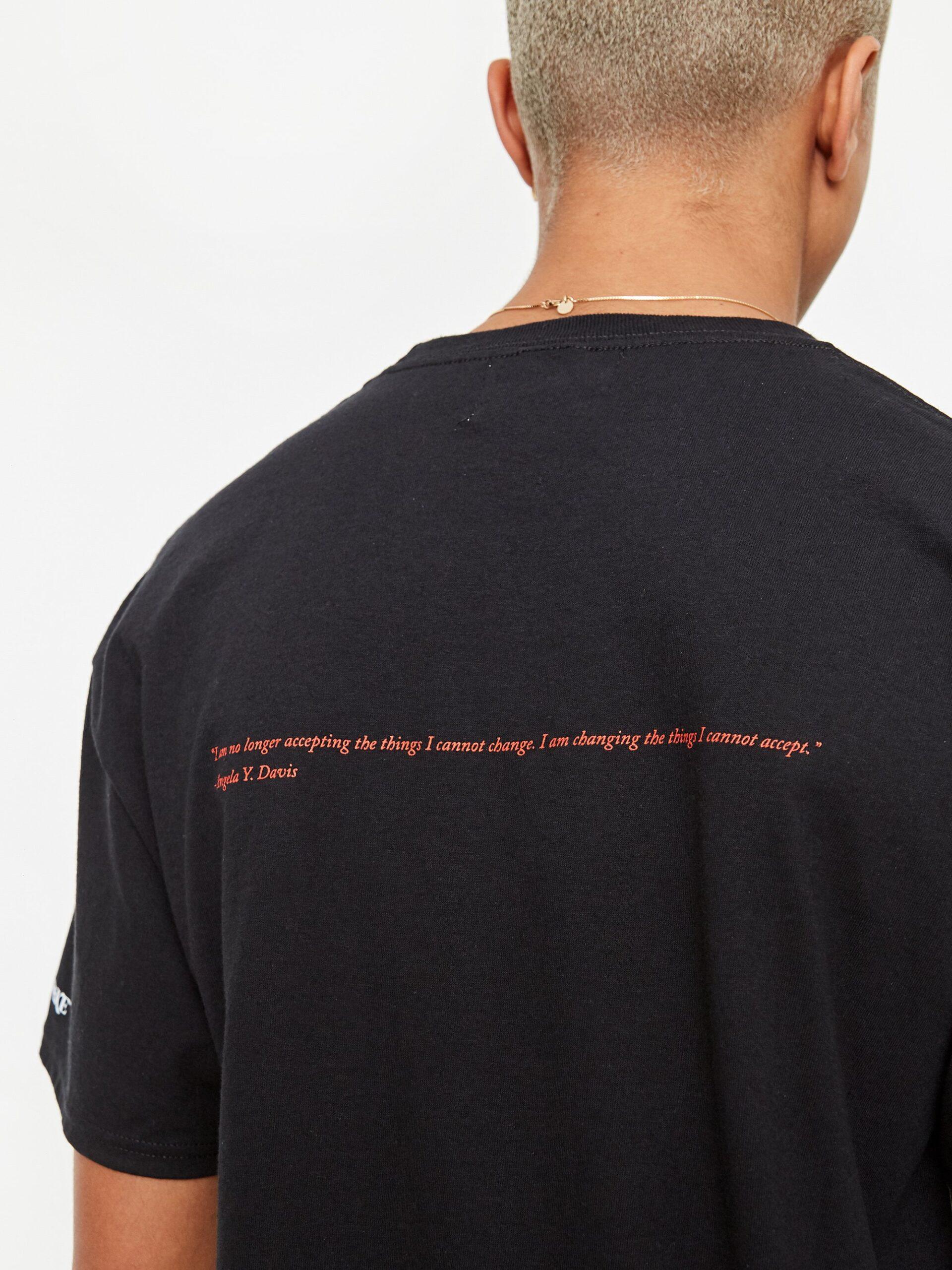 Awake Angela Davis T shirt Black 6