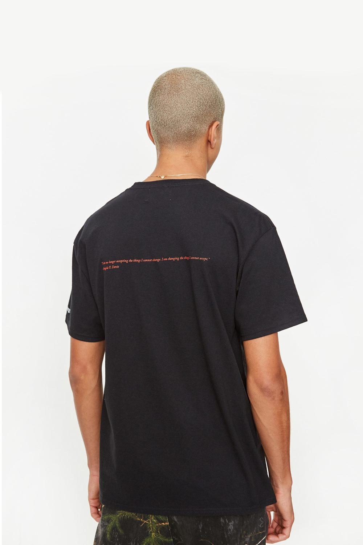 Awake Angela Davis T shirt Black 7