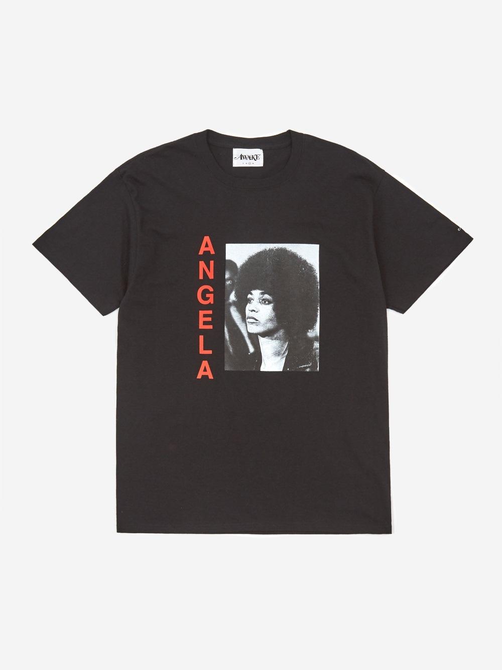 Awake Angela Davis T shirt Black