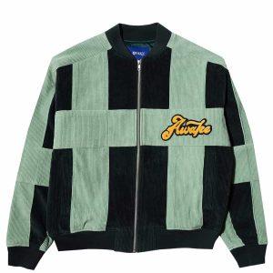 Awake Chenille Patch Corduroy Logo Jacket Green