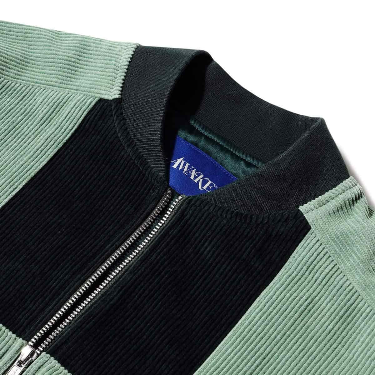 Awake Chenille Patch Corduroy Logo Jacket Green 4
