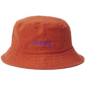 Awake Classic Logo Bucket Hat Orange