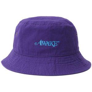 Awake Classic Logo Bucket Hat Purple