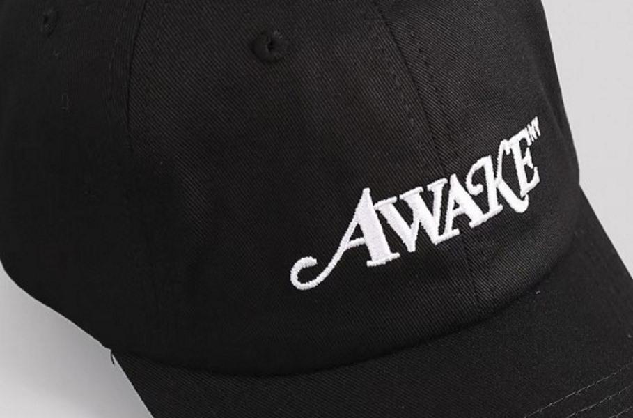 Awake Classic Logo Dad Hat Black 3