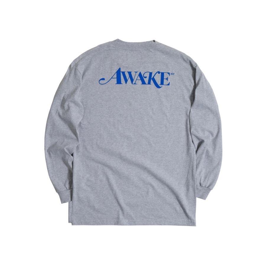 Awake Classic Logo LS Tee Heather Grey