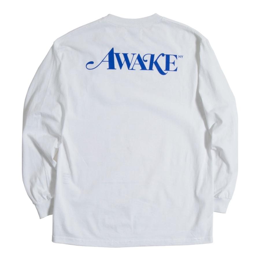 Awake Classic Logo LS Tee White 1