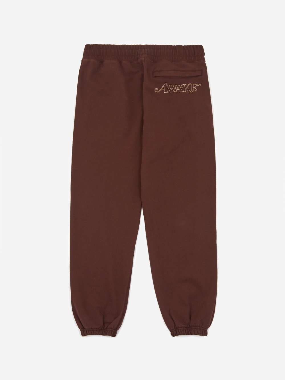 Awake Classic Outline Logo Paneled Embroidered Sweatpant Brown 1