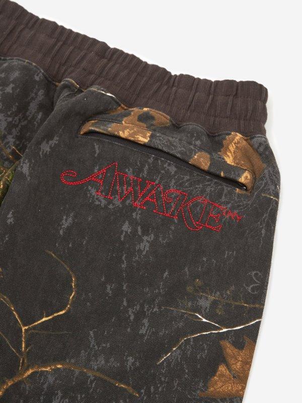Awake Classic Outline Logo Paneled Embroidered Sweatpant Real Tree 6