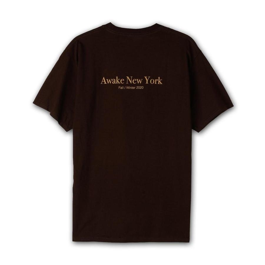 Awake Classic Outline Logo T shirt Brown 1