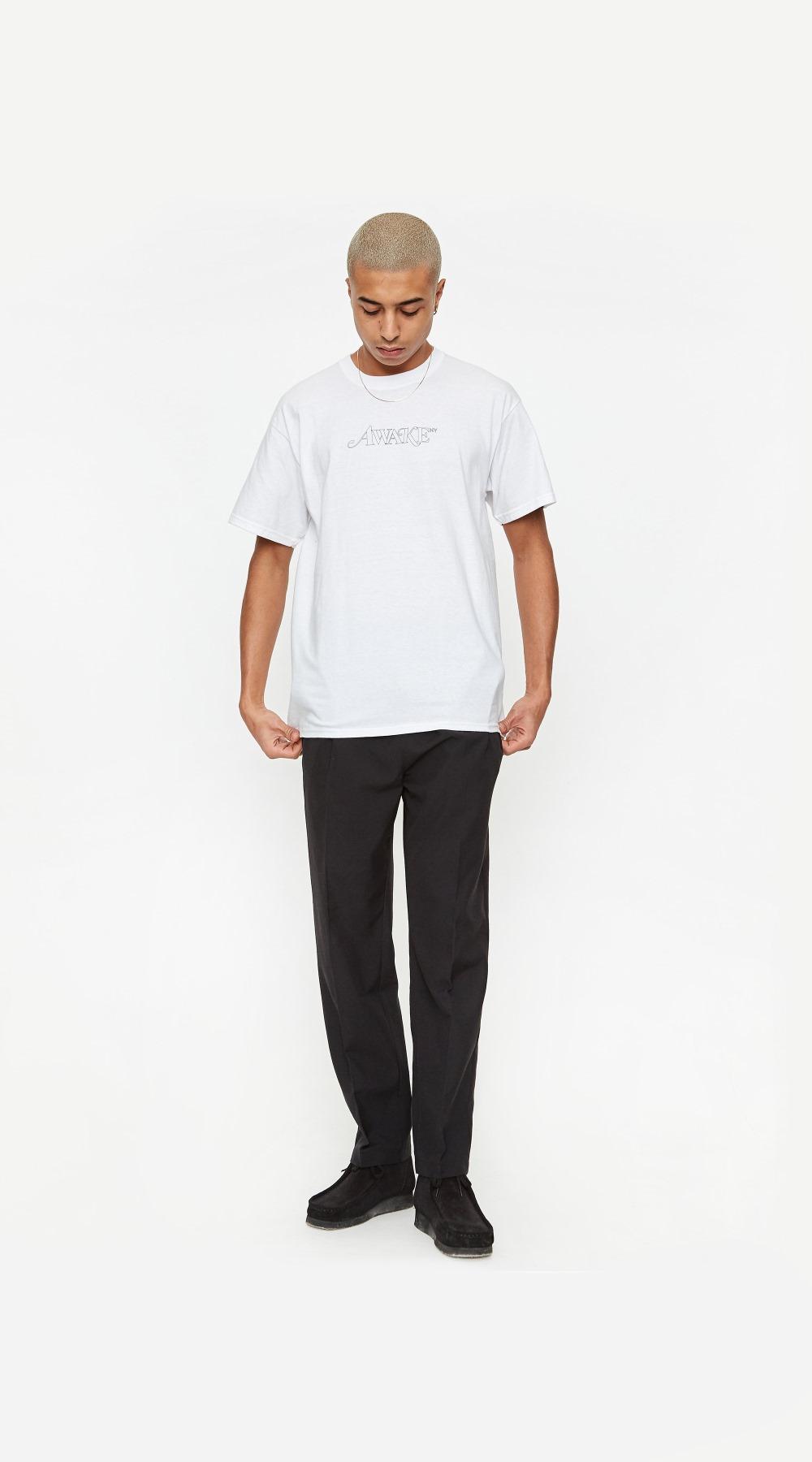 Awake Classic Outline Logo T shirt White 3