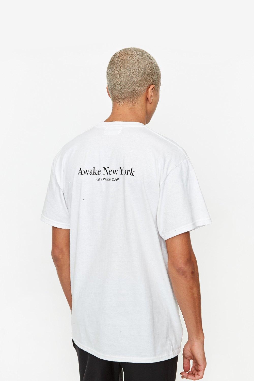 Awake Classic Outline Logo T shirt White 4