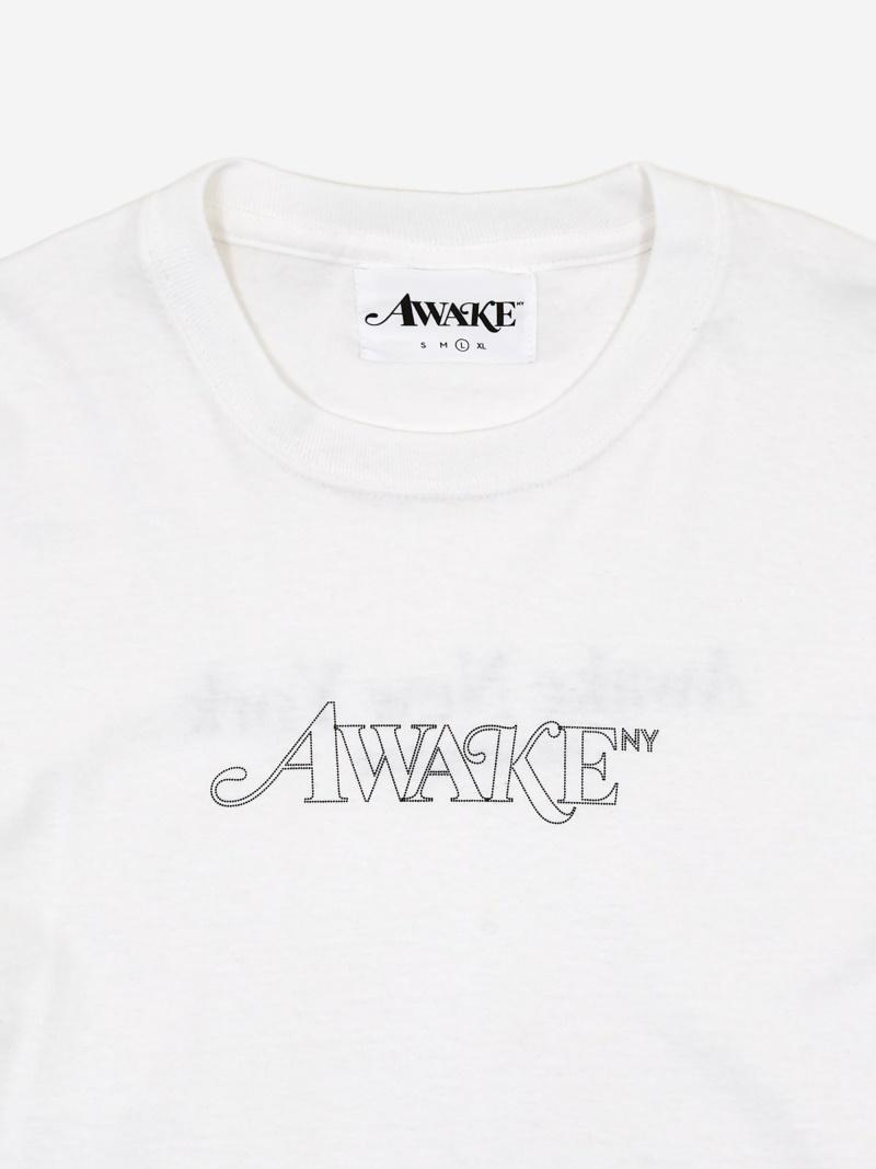Awake Classic Outline Logo T shirt White 5