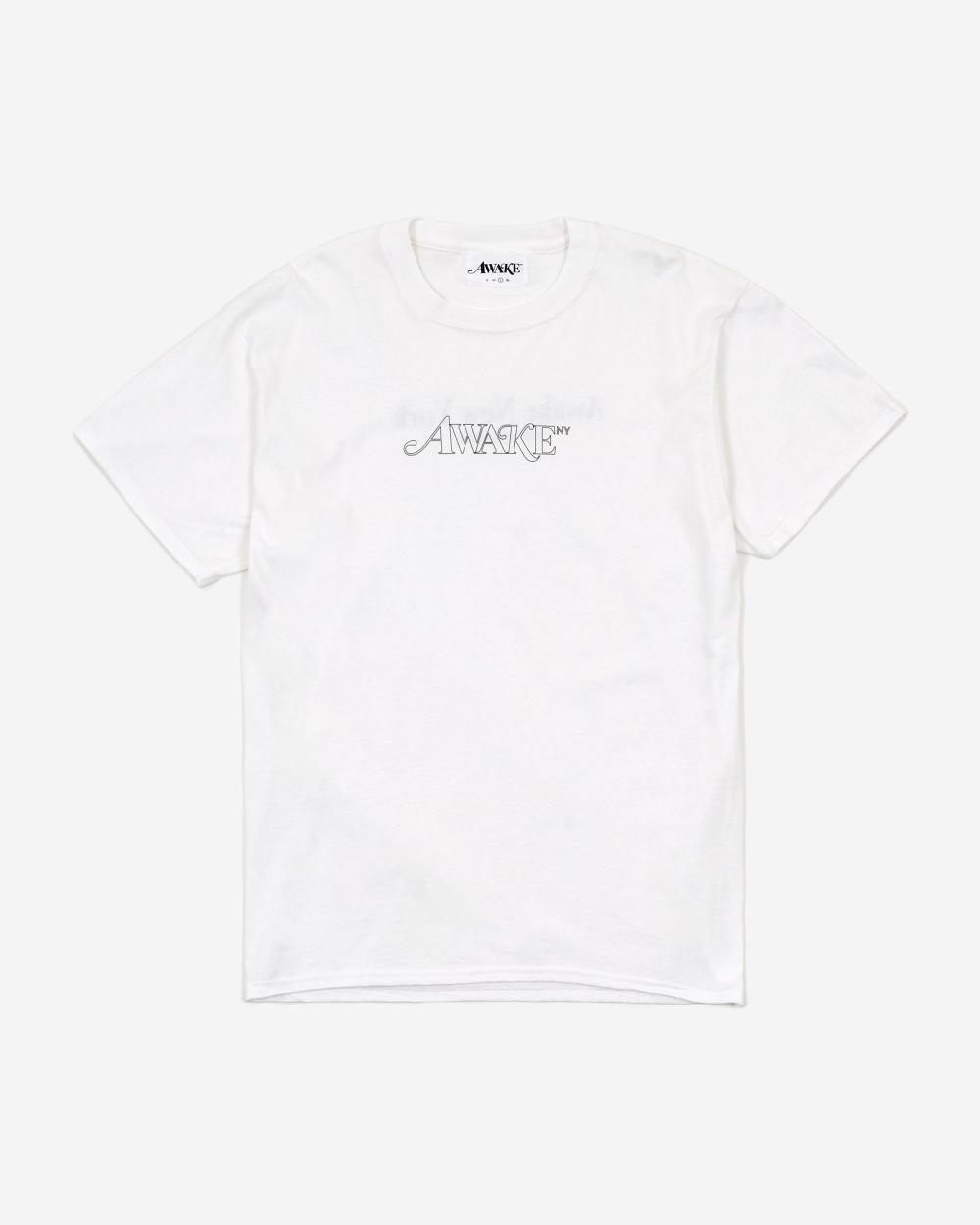 Awake Classic Outline Logo T shirt White
