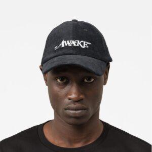 Awake Corduroy Classic Logo Dad Hat Black 1