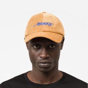Awake Corduroy Classic Logo Dad Hat Tan 1