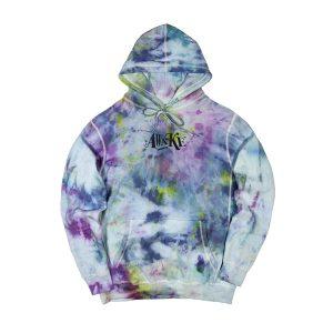 Awake Distorted Logo Hoodie Tie Dye