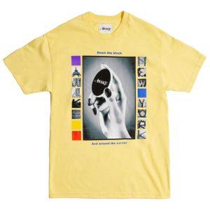 Awake Down The Block Tee Light Yellow