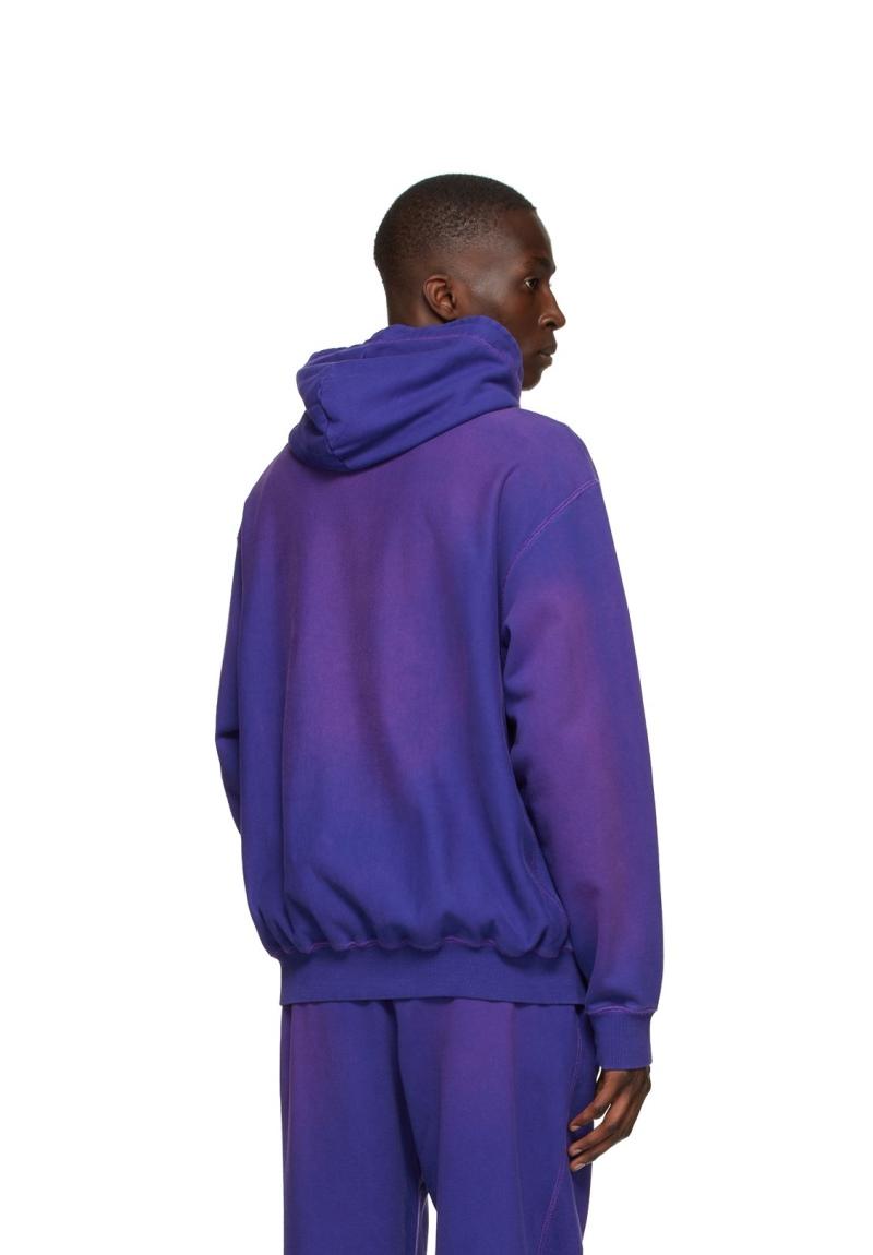 Awake Embroidered Logo Hoodie Purple 4