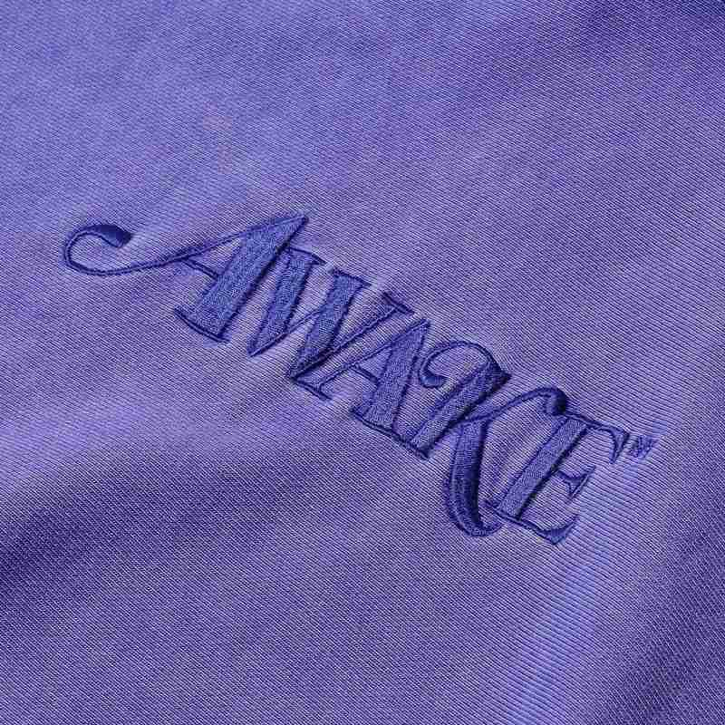 Awake Embroidered Logo Hoodie Purple 7