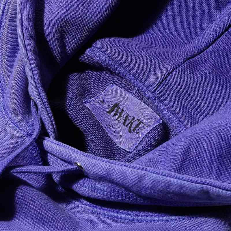 Awake Embroidered Logo Hoodie Purple 8