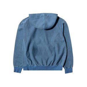 Awake Embroidered Logo Hoodie Washed Blue 1