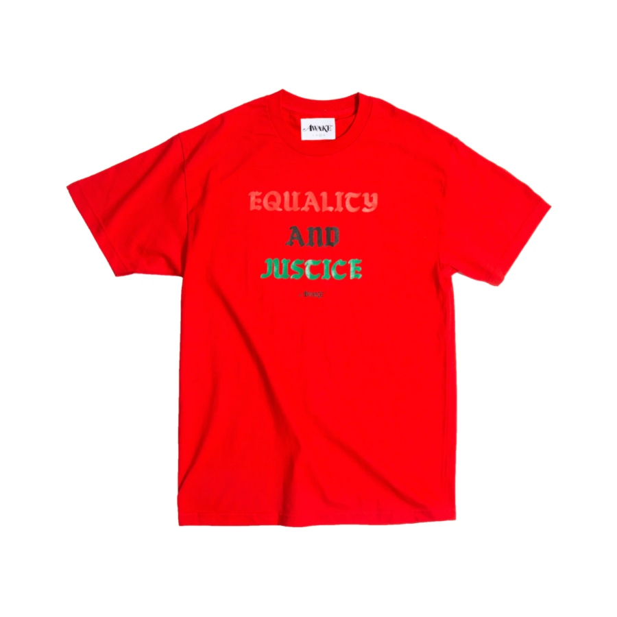 Awake Equality and Justice Tee Red