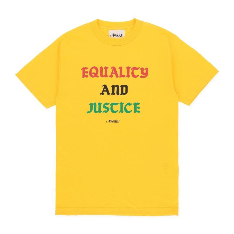 Awake Equality and Justice Tee Yellow
