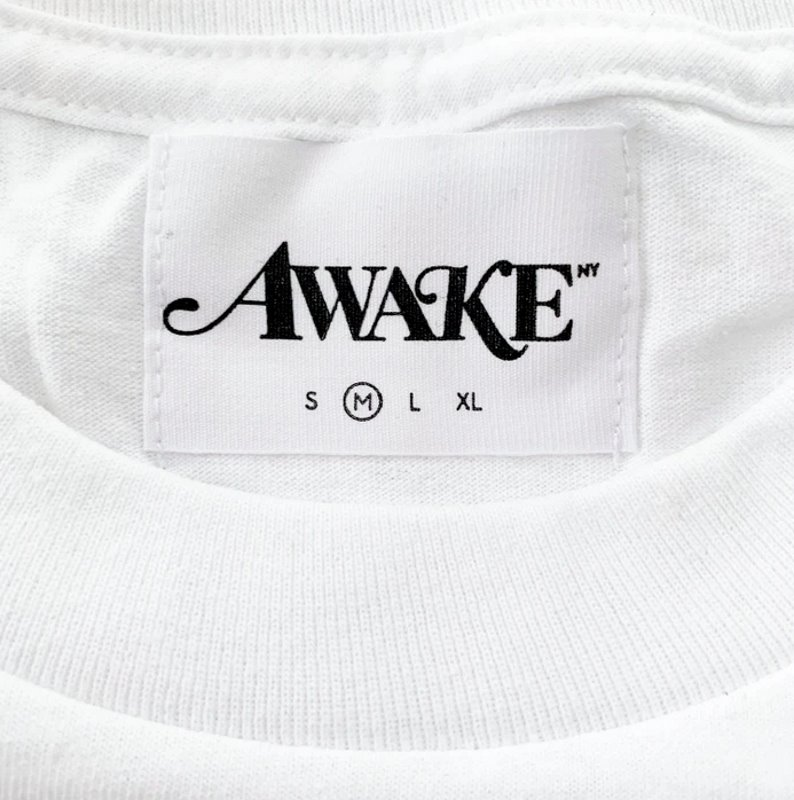 Awake Fish Bowl Tee White 1