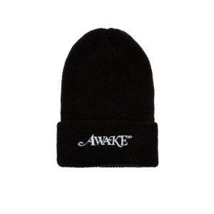 Awake Loose Gauge Classic Logo Beanie Black