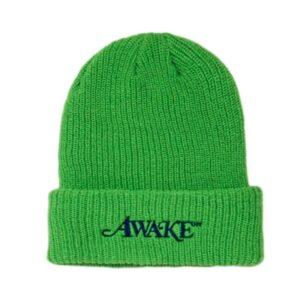 Awake Loose Gauge Classic Logo Beanie Green