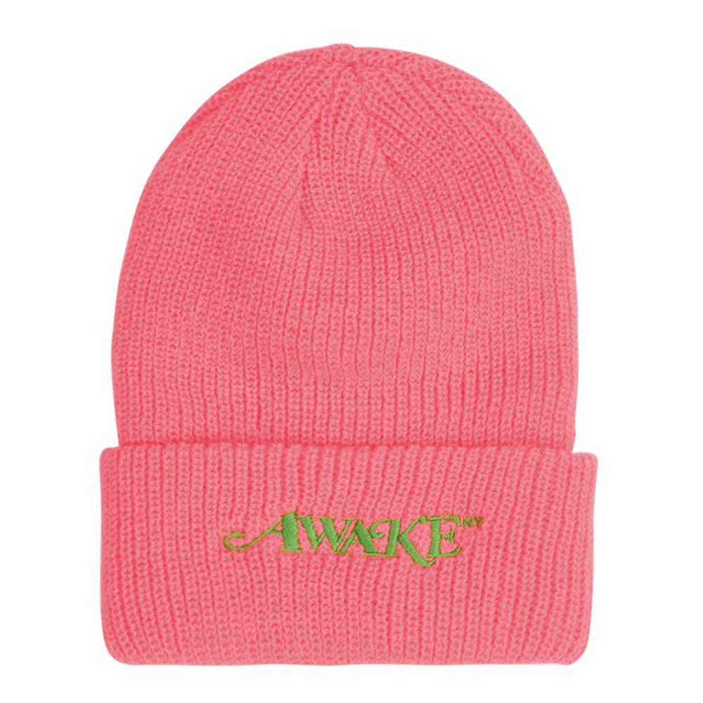 Awake Loose Gauge Classic Logo Beanie Hot Pink