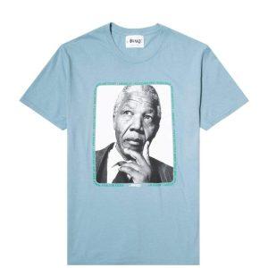 Awake Mandela Tee Washed Blue