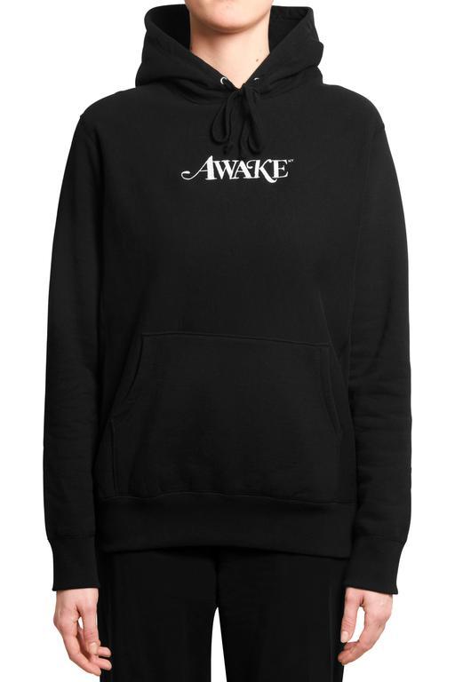 Awake Metallic Foil Logo Hoodie Black 1