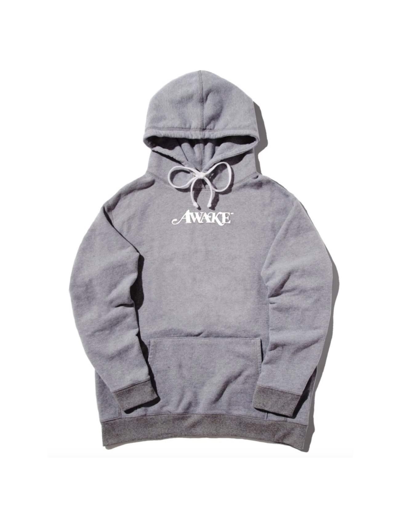 Awake Metallic Foil Logo Hoodie Gray