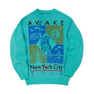 Awake Nyc Borough Sweater Teal