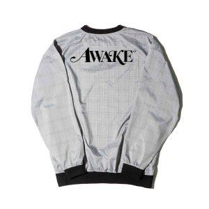Awake Plaid Windbreaker Pullover Jacket Black 1